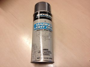 Light grey / lys grå spray maling til Mercury / Mariner motorer, 802878Q14